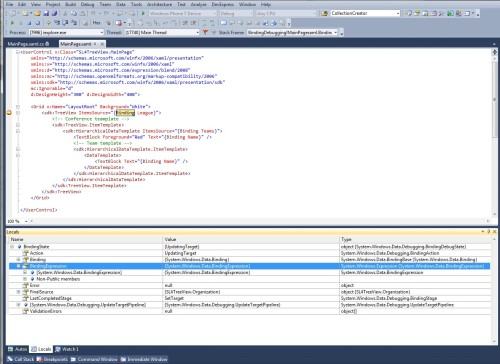 Debugging XAML Binding in Silverlight 4