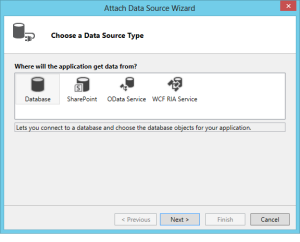Attach Data Source Wizard