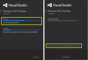 VS2013 Preview Install including LightSwitch V4
