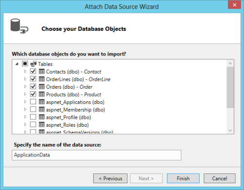 Attach Data Source Wizard - Update