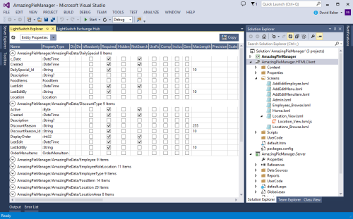 AIDE for LightSwitch Explorer in VS2013 RC